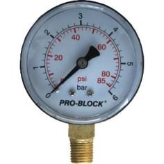 Manomètre radial à sec Ø63