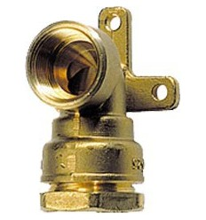 Deca brass coupling pipe from 1 2 to 4 pompes h2o for Applique murale 2 bras