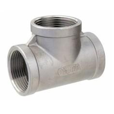 316 Stainless steel Tee F/F/F threaded