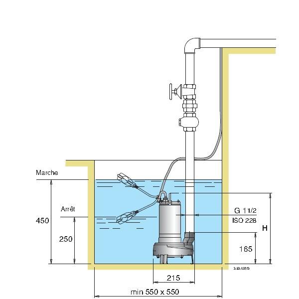 pompe submersible de relevage tout inox pour eaux charg es calpeda gxvm 40. Black Bedroom Furniture Sets. Home Design Ideas