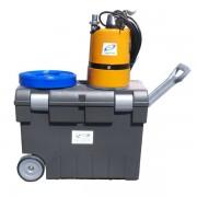 Kit pompe d'asséchement total jusqu'à 1 mm + Valise de transport à roulettes + tuyau refoulement 20m