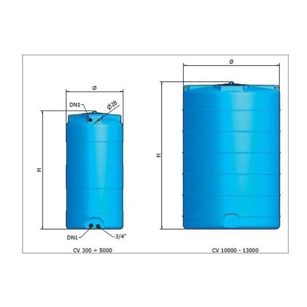 R servoir vertical eau potable cv mod les 1000 l 1500 - Cuve stockage eau potable ...