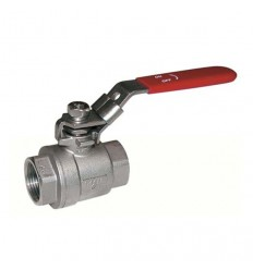 2 pieces stainless steel ball valve with red handle PN63