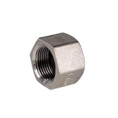 Stainless steel AISI 316 hexagon female cap