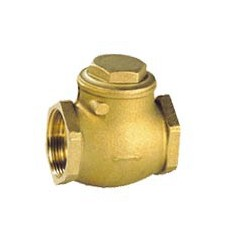 Brass check valve simple flapper - Seat NBR - PN10