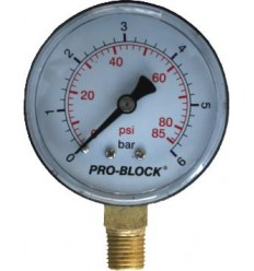 Radial manometer D63 - 0-6 bars
