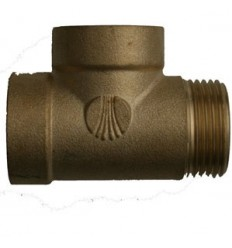 Brass coupling 3 ways 1""