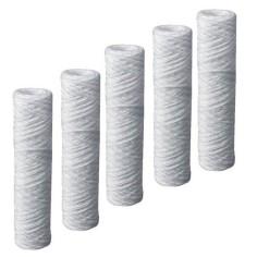 "5 cartouches filtrantes bobinnées 5µ (ACS) pour filtre 10"""
