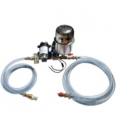 Kit surpresseur 2L inox 12V - 4 bar 12 l/min