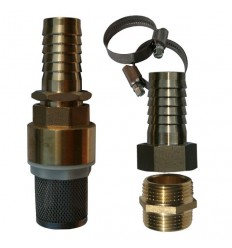 Universal brass/stainless steel check valve strainer