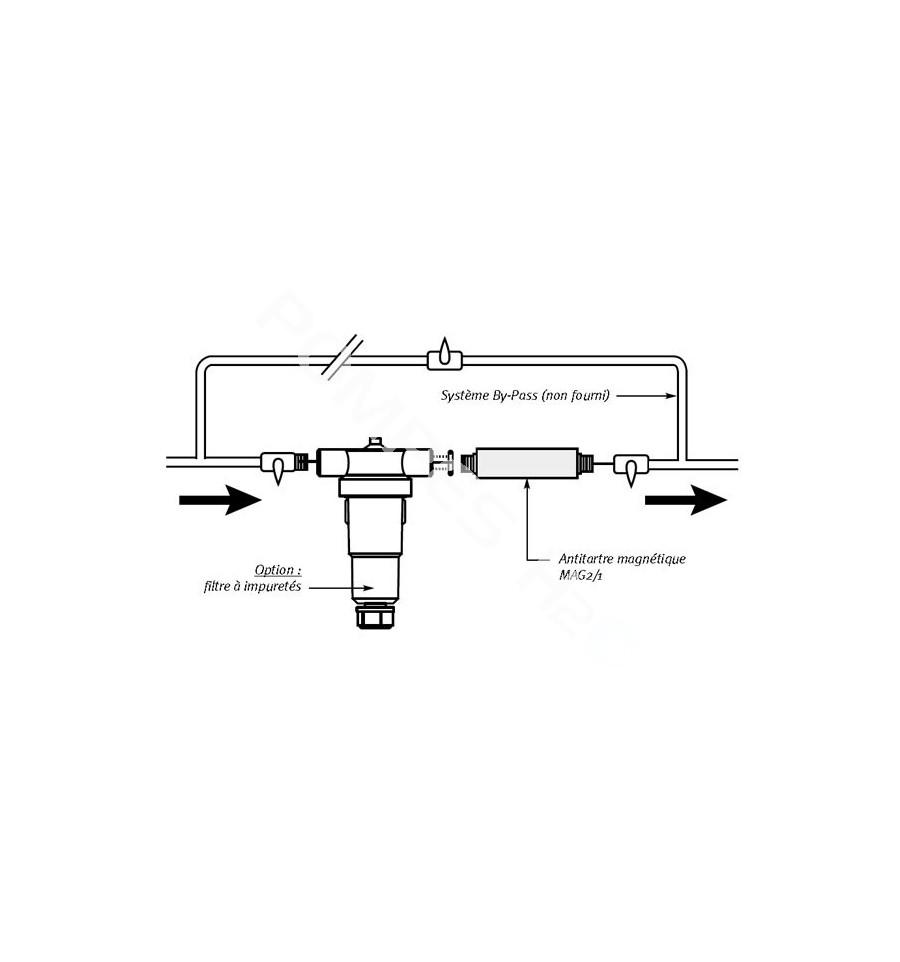 Anti tartre magn tique mag 2 1 d bit 2 5 m3 h - Anti tartre magnetique ...