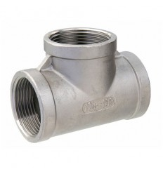316 Stainless steel Tee F/F/F threaded