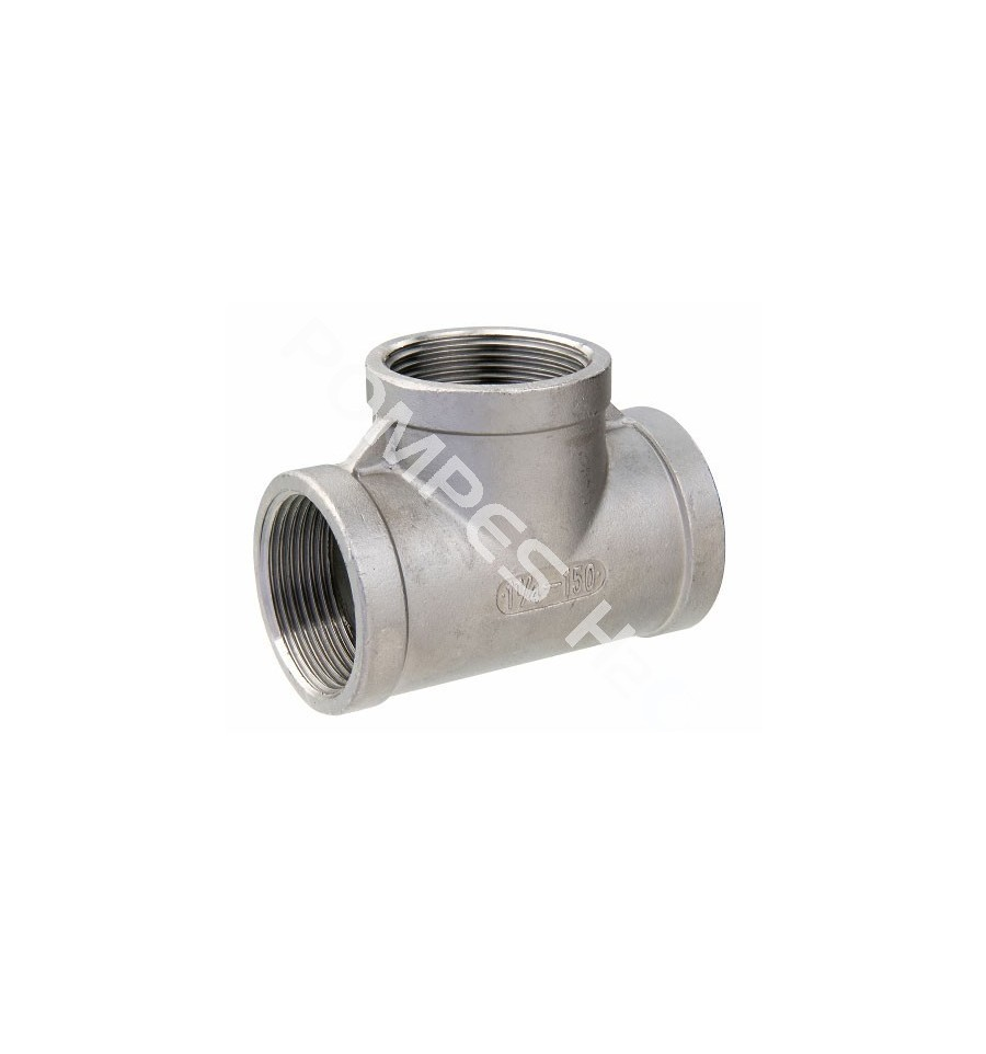 Stainless steel tee f threaded dn from quot to