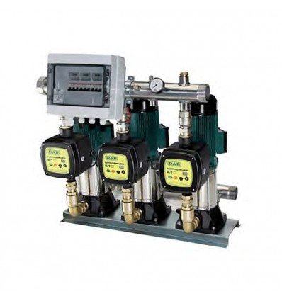 Surpresseur à vitesse variable 3 pompes verticales à refoulement et aspiration en ligne (IN-LINE) KVC-AD - 2 à 33 m3/h