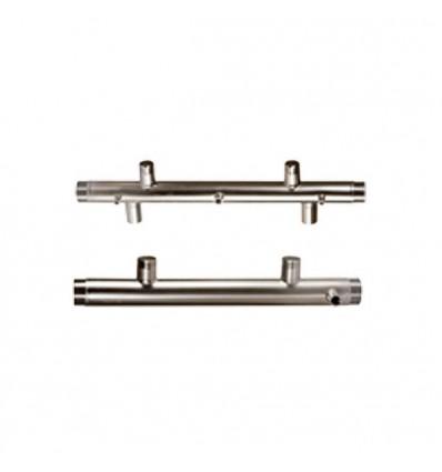 Collecteur inox aspiration 2 pompes horizontales ou verticales