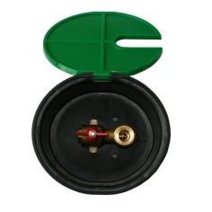 Bouche d'arrosage ronde en polypropylène pour tuyaux 15 ou 19 mm