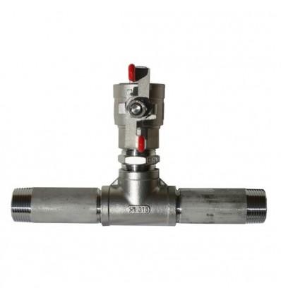 Kit raccordement inox 316 pour réservoir à vessie horizontal ou vertical - Conforme ACS
