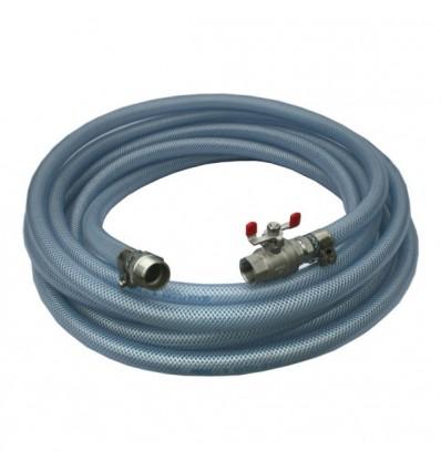 Kit de refoulement 10 bar tuyau polyvalent avec raccords inox 316