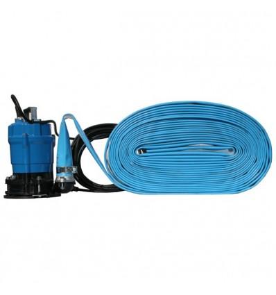 Pompe d 39 puisement jusqu 39 3 mm avec tuyau de refoulement - Aspirateur a eau avec pompe de refoulement ...