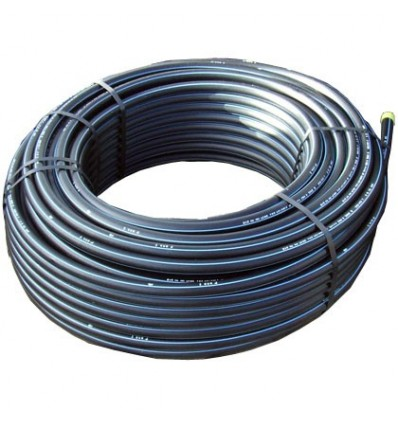Tube PEHD bande bleu Ø 25 x 3.0 en couronne de 50 m