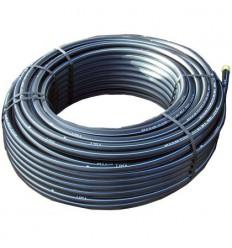 Tube PE80 AEP bande bleu Ø 50 x 4.6 mm - couronne de 100 m