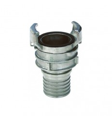 Stainless steel self-fastening hose coupling with lock