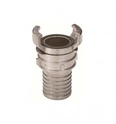 Stainless steel AISI 316 reduced hose coupling with lock