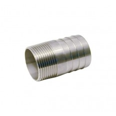 Adaptateur cylindrique mâle - cannelé inox 316L