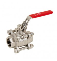 3 pieces stainless steel (316) ball valve F/F PN63