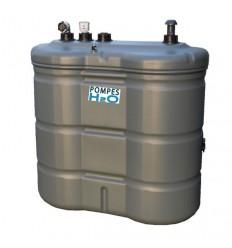 Cuve double paroi toute équipée pour carburant ou huile - Capacité 1100, 1500 et 2000L