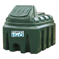 Distributeur gasoil et GNR avec cuve double paroi 2500L équipé d'une pompe 60 l/min, compteur, flexible 8m, pistolet automatique