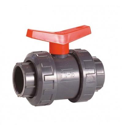 Vanne PVC pression à coller F/F PN16