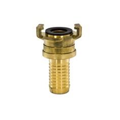 Raccord laiton GK cannelé + verrou - DN10 à DN38 mm