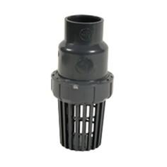 Clapet crépine de pied en PVC-U à coller pour pompe à eau de surface, transfert liquides chimiques, acides, basiques