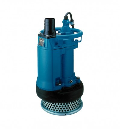 Pompe submersible en fonte 4 pôles Tsurumi KRS (TRI 400V) relevage eaux chargées en boue, sable, carrières, mines, BTP