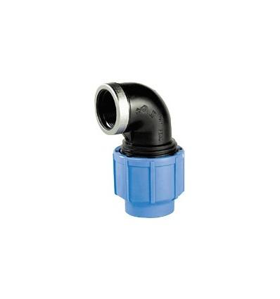 Coude à 90° Femelle réduit pour tube PE