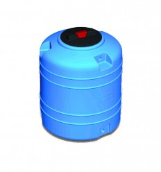 Cuve de stockage d'eau cylindrique verticale en polyéthylène volume 150 L