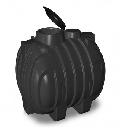 Cuve enterrée de stockage eaux de pluie polyéthylène annelée 3000-5700-10700 L