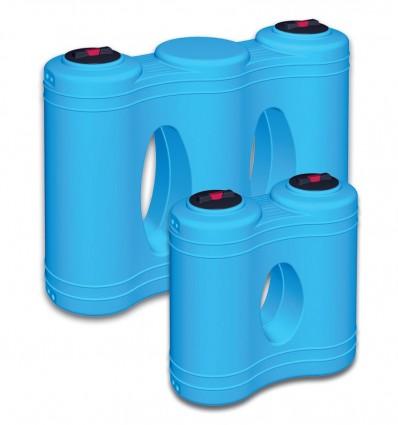 Réservoir de stockage en polyéthylène pour passages étroits largeur 68 cm Volume 1000 ou 2000 L