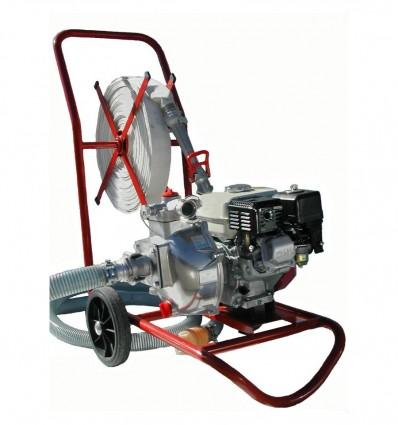 Motopompe essence 2.4CV sur chariot équipé Tsurumi TEF 25 HA-VC