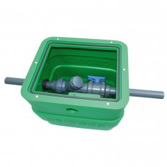 Regard de vannage étanche en polyéthylène, avec couvercle pour une pompe