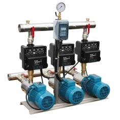 Surpresseur 3 pompes horizontales Calpeda MXH à vitesse variable - Débit 75 m3/h