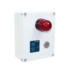 Coffret alarme cuve trop plein fonctionnement autonome en cas de coupure d'alimentation 230V