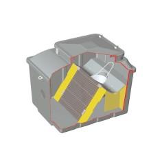 Dégrilleur filtration avant fosse poste station de relevage / Volume 200, 500 ou 1000 litres
