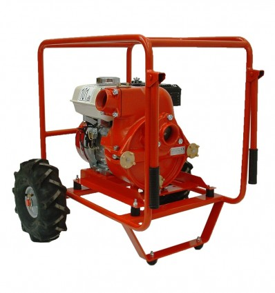 """Motopompe eaux chargées TRASHLIB 2"""" sur chariot de transport, moteur essence ou diesel, débit max 51 m3/h"""