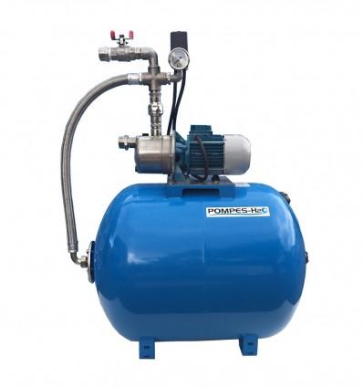 Surpresseur 150 litres avec pompe JET inox 24 volts