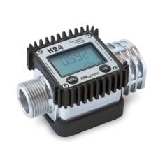 Compteur numérique à turbine pour fluides à basse viscosité - Compte litre de carburant électronique Affichage LCD - PIUSI K24