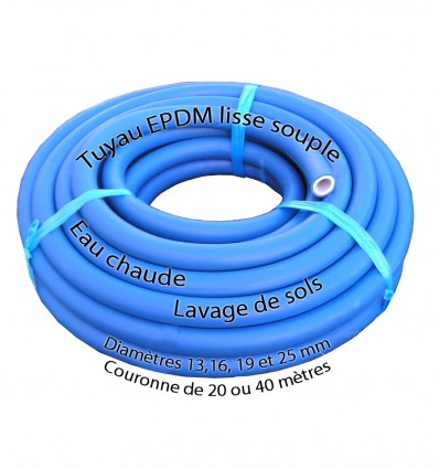 Tuyau de lavage eau chaude EPDM en couronne de 20 m