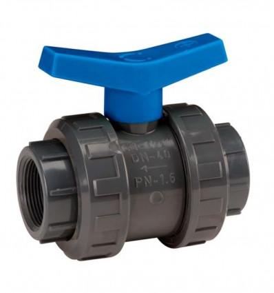 Vanne PVC F/F à coller - DN20 au DN90 - Adduction, arrosage, irrigation, Piscine, distribution de l'eau