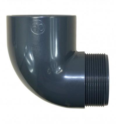 Coude à 90° à coller et visser PVC PRESSION
